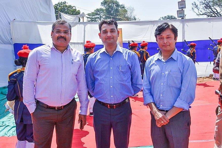 With Sri Harsh Mangla (Joint Secretary welfare dept. & Jail IG) and Sri Brajesh Das (Adviser,Special Secretary welfare dept.)