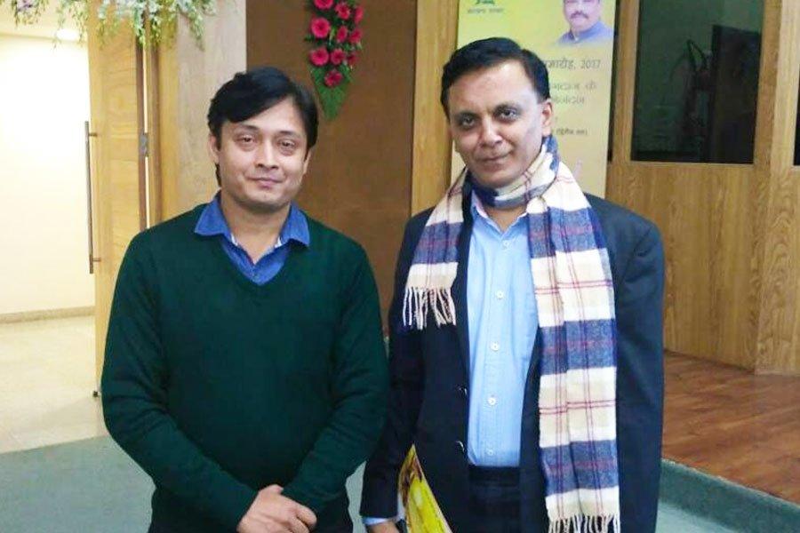 With Mr. Rahul Sharma (Secretary Tourism, Art Culture, Sports and Youth Affairs)