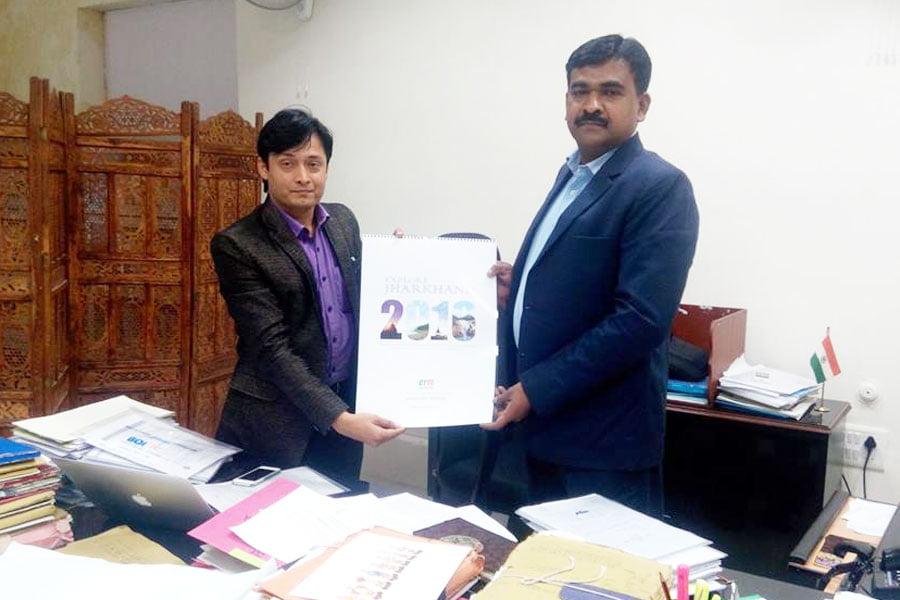 With Secretary Industries K. Ravi Kumar (IAS), Jharkhand.